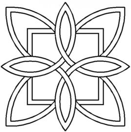 Quilt Stencil Celtic Floral Design