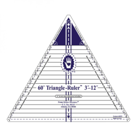 60° Triangle Ruler  3 tot 12inch