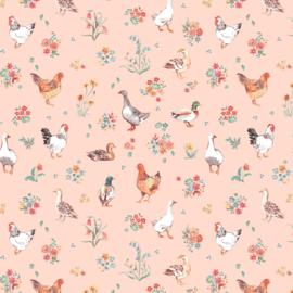 Farm Meadow - Fowls - Peach