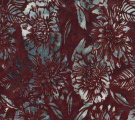 Hoffman Bali Blue Barn Flower - 3353 313