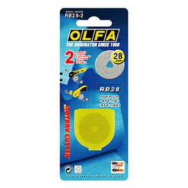 Olfa Reserve mes - 28 mm (2 mesjes) Spare blade