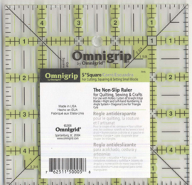 Omnigrid Neon Quilt liniaal 5  x  5  inch  ( biassquare)