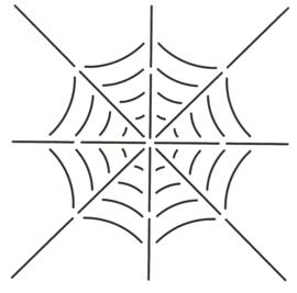 Spiderweb block 8 x 8 inch