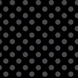 Kimberbell Basic Grey dots on Black - MAS 8216-JK
