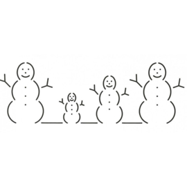 QuiltStencil Snow People