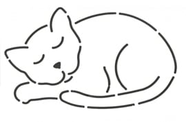 Quilt Stencil Catnapper 5 x 3 inch