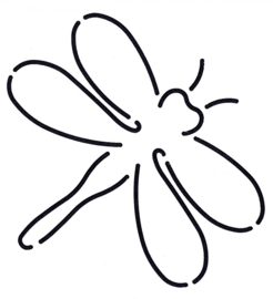 Quilt Stencil Dragonfly
