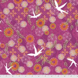 Enchanted - Bird Medallions - Pomegranate