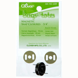Magnetic snap closures 3/4 inch Black Nickel