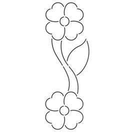 QuiltStencil Flower Border 3 inch