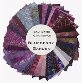 Batik Charmpack : Blueberry Garden