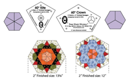 One-derful One-Patch Templates - 2 inch Kite & Crown