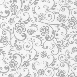Swirls - Grey on White
