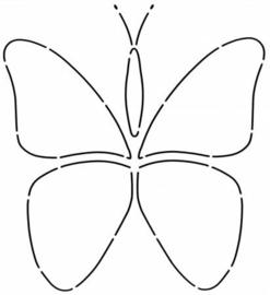 Butterflies Stencil circa 10 inch