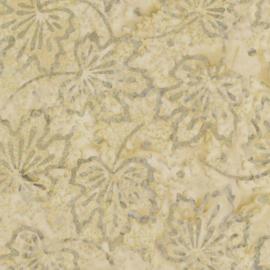 Maple Leaves Batik Tonga B4861 Cream