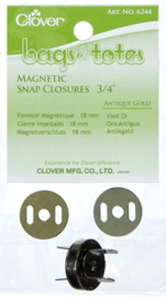 Magnetic snap closures 3/4 inch Antique Gold