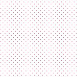 Swiss Dot On White Hot Pink