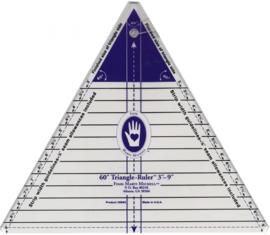 60° Triangle Ruler (Marti Michell) 3 inch tot 9 inch