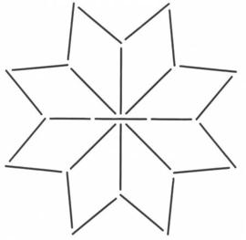 Stardesign  block 7 x 7 inch