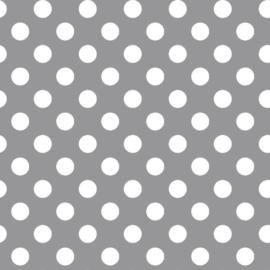 Kimberbell Basic White Dots  on Grey - MAS 8216-K