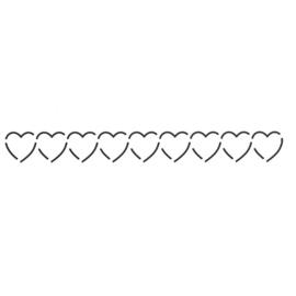 QuiltStencil Horizontal Heart Border