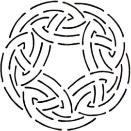 Quilt Stencil Quilt Stencil Celtic Circle KD10QC