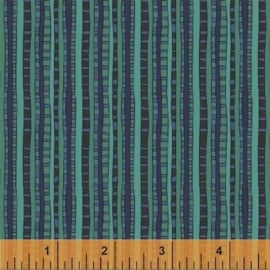 Fantasy by Sally Kelly - Ladder Stripe - Parakeet