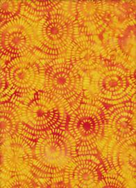 Handmade Batik  Small Circles Orange