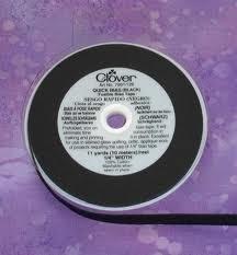 Clover Quick Bias Tape (Fusible) Zwart
