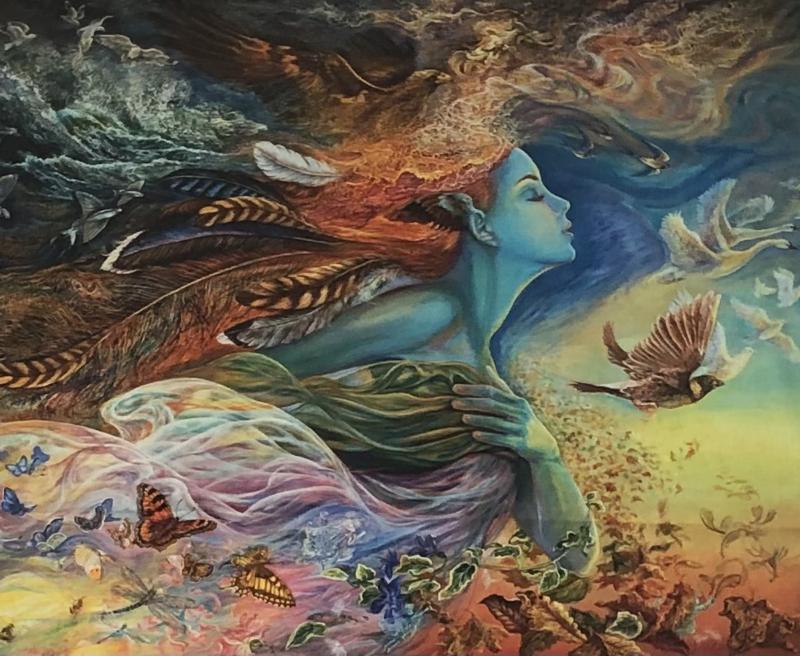 Spirit  of  Flight by Josephine Wall