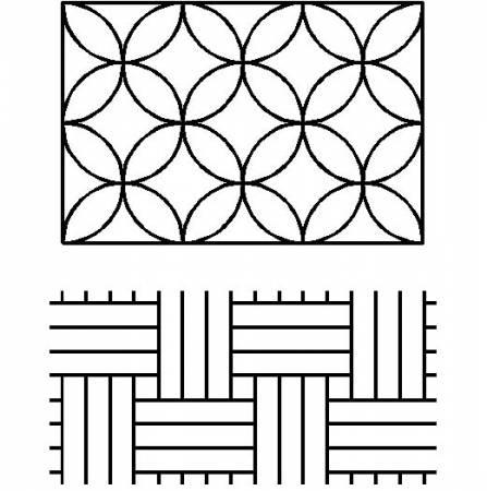 Sashiko Paving Stones/ Interlocking Circles Stencil