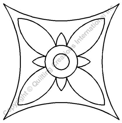 Quilt Stencil Pinwheel 8 inch
