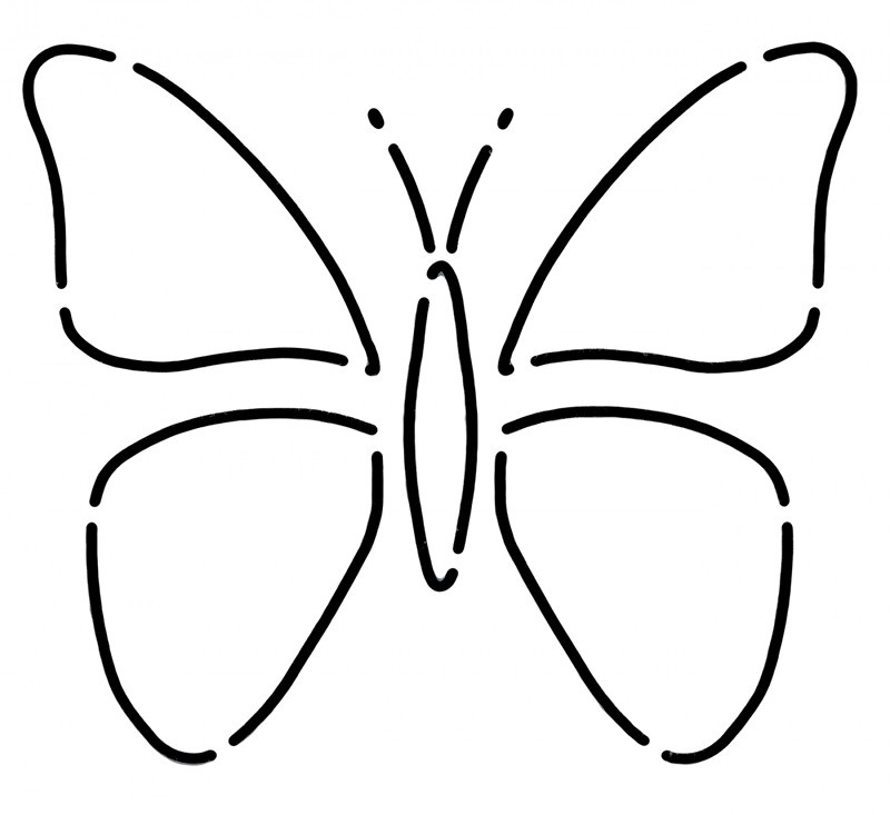 Mini Butterfly Stencil