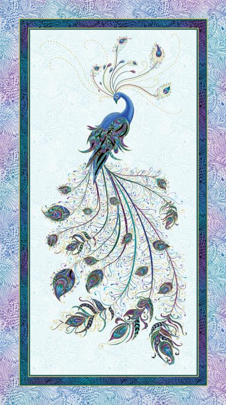 Peacock Flourish Panel by Ann Lauer