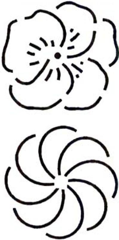 Quilt Stencil Flower and Swirl