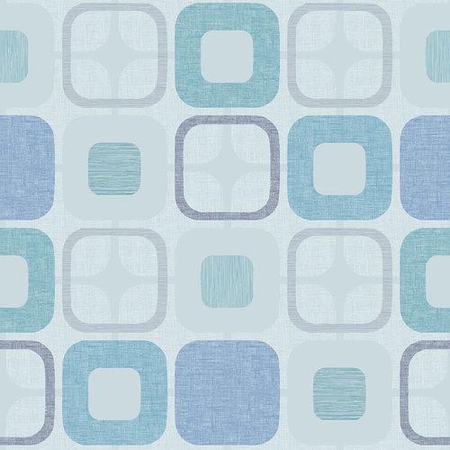 Blank Quilting - Geo Square Light Blue