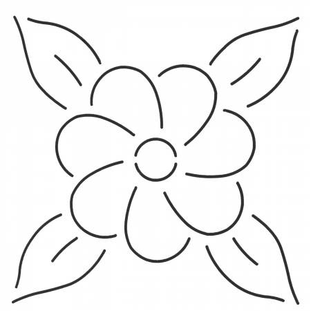 Quilt Stencil Floral Design