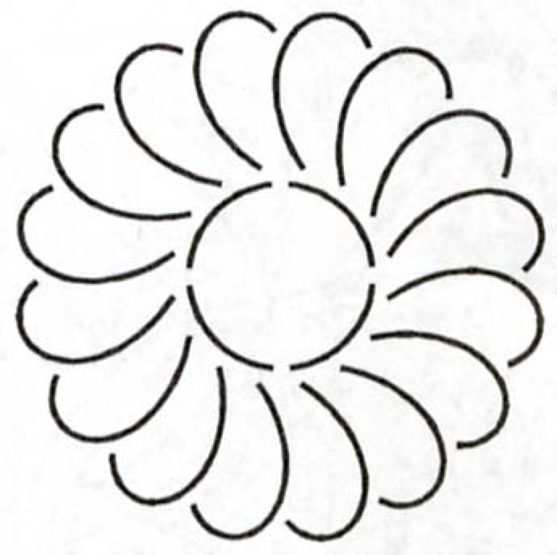 Feather Circle 5 inch