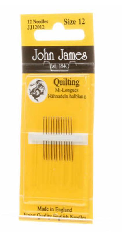 John James Quilting needles size 12