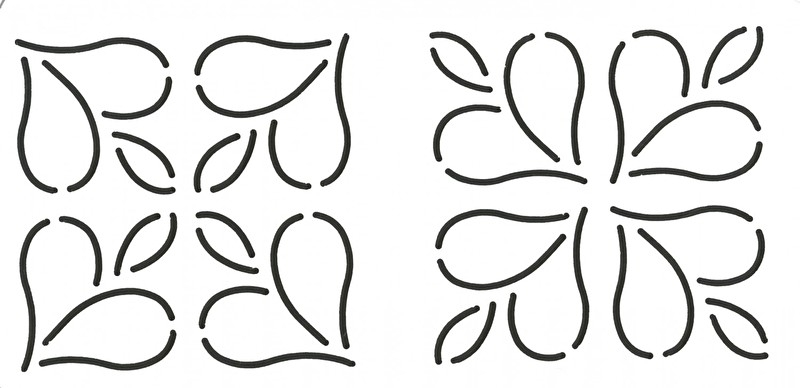 Quilt Stencil Mini Designs