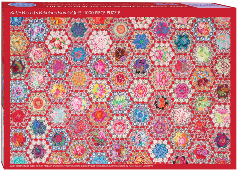 Fabulous Florals Quilt Jigsaw Puzzle for Adults