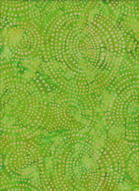 Handmade Batik  Bubbles Light Green