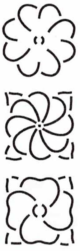 Quilt Stencil 3 Floral Designs