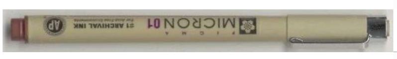 Pigma Micron Pen Brown 0,25mm Maat 01
