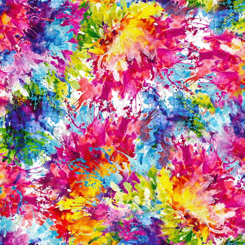 Multi Bright Splash  Digitally Printed