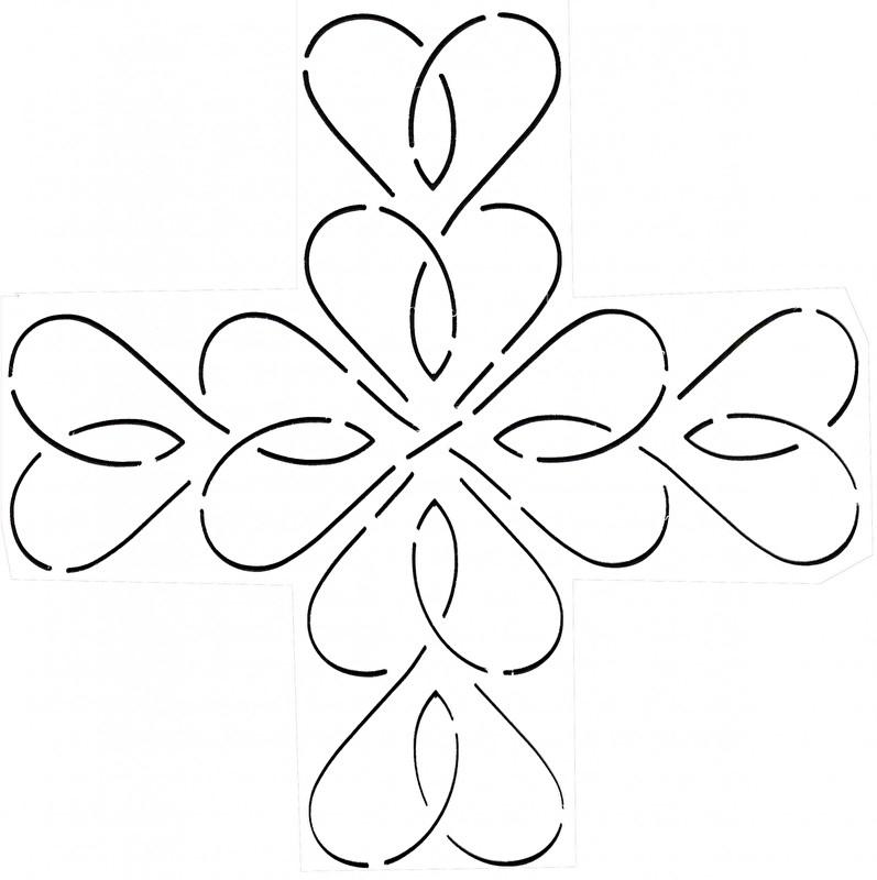 Quilt Stencil Heart Sash