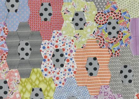 Jen Kingwell  - Postcard Project # 16 - Lozenge Hex