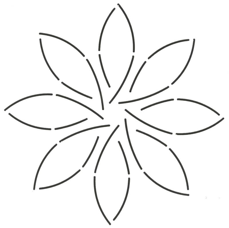 Quilt Stencil Pinwheel