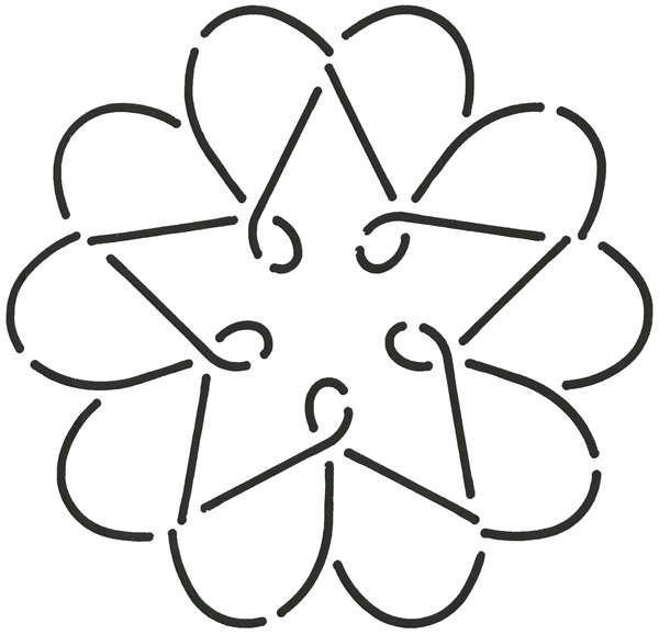 Quilt Stencil Star Heart