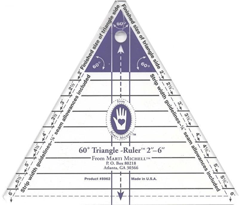 Small Triangle Ruler Small 60 Graden - 2 inch tot 6 inch